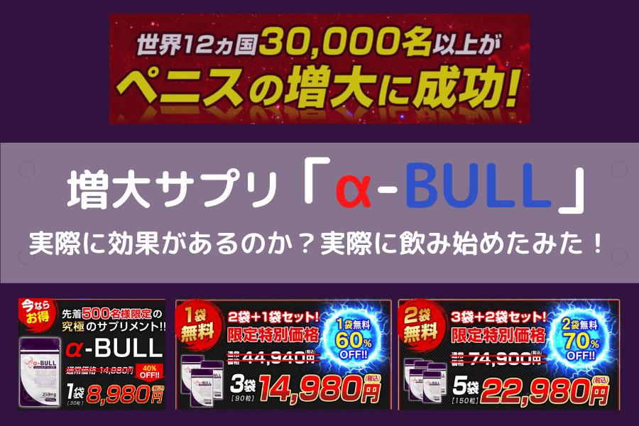 α-BULL解説画像